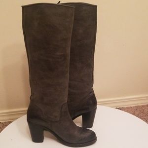 Ariat Gold Coast Dark Grey Leather Western Boots